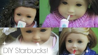 Diy American Girl Doll Starbucks Drinks