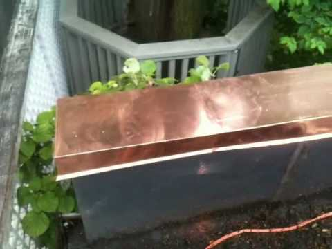 Roofing Toronto Copper Roof Parapet Wall Caps Youtube