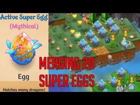 Merging 20 Super Eggs | Merge Dragons