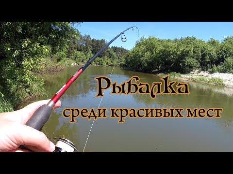 Рыбалка на спиннинг среди красивых мест малой реки