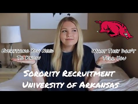 Sorority Recruitment @ University of Arkansas | Everything You Need To Know