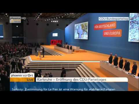 CDU-Parteitag: Eröffnungsrede von Angela Merkel am 14.12.2015