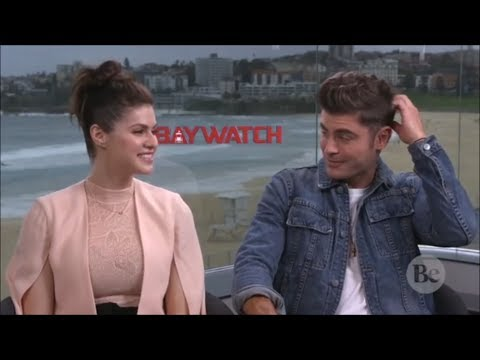 Zac Efron Can't Stop Blushing Around Alexandra Daddario (Flirty Interview)