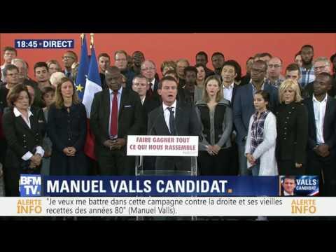Manuel Valls annonce sa candidature à l'élection présidentielle: l'intégralité de son discours