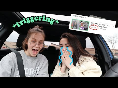 "reacting to my ""VIRAL"" videos. *I CRIED*"