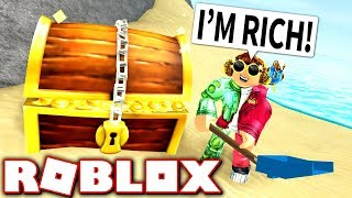 DIGGING FOR BURIED TREASURE!! (Roblox Treasure Hunt Simulator)