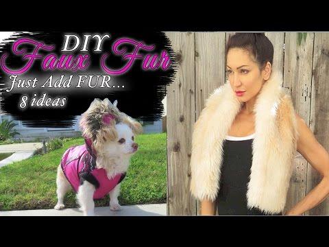 FAUX FUR Fashion ideas!- Faux Fur Coat- Faux FUR THROW +6 EASY DIYs 75cef6376
