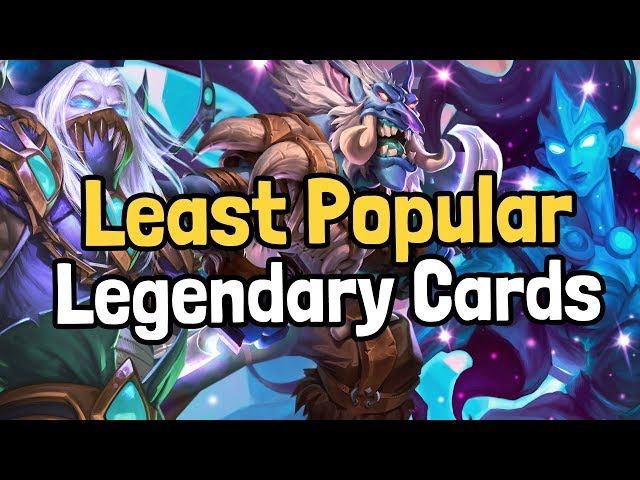 The 10 Least Popular Legendary Cards of the Year - Hearthstone | Supported by HSReplay.net