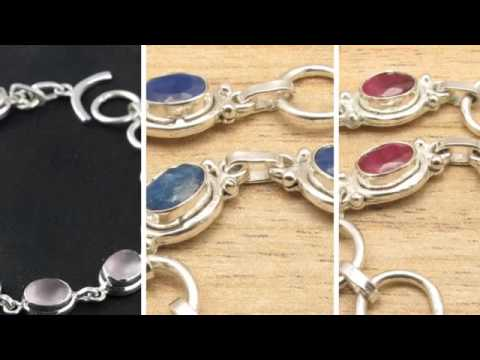 WHOLESALE STERLING SILVER GEMSTONE BRACELETS