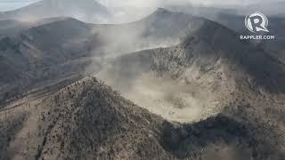 Taal Volcano aerial survey on January 21