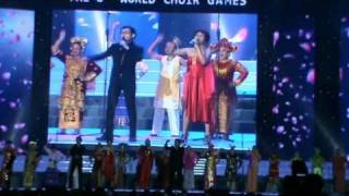 Elfas Singer - World Choir Games 2010 - Indonesian Team in Shaoxing, China (Music Video by Agus)