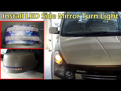 LED Side Mirror Turn Signal Indicator Install On Nissan Quest