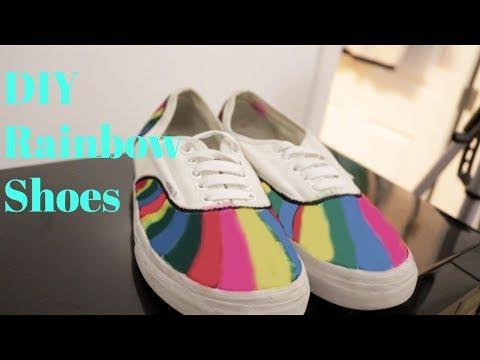 Customized Rainbow Vans| Bri Peaches