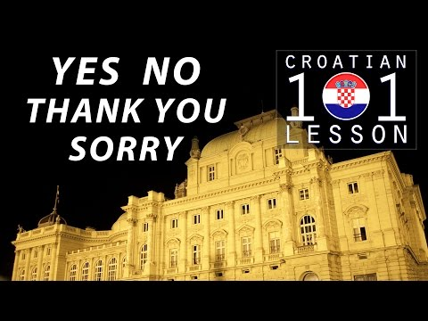 018 / Everyday phrases - Croatian101Lesson