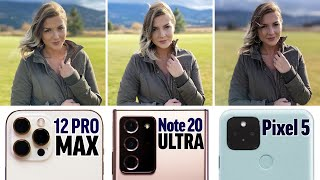 Unbiased iPhone 12 Pro Max vs Note 20 vs Pixel 5 Camera Comparison!