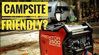 Harbor Freight Predator 3500 watt generator Noise Test running the RV  Air Conditioner?