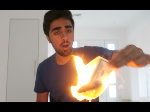 Burning Money... *Dont Try This*