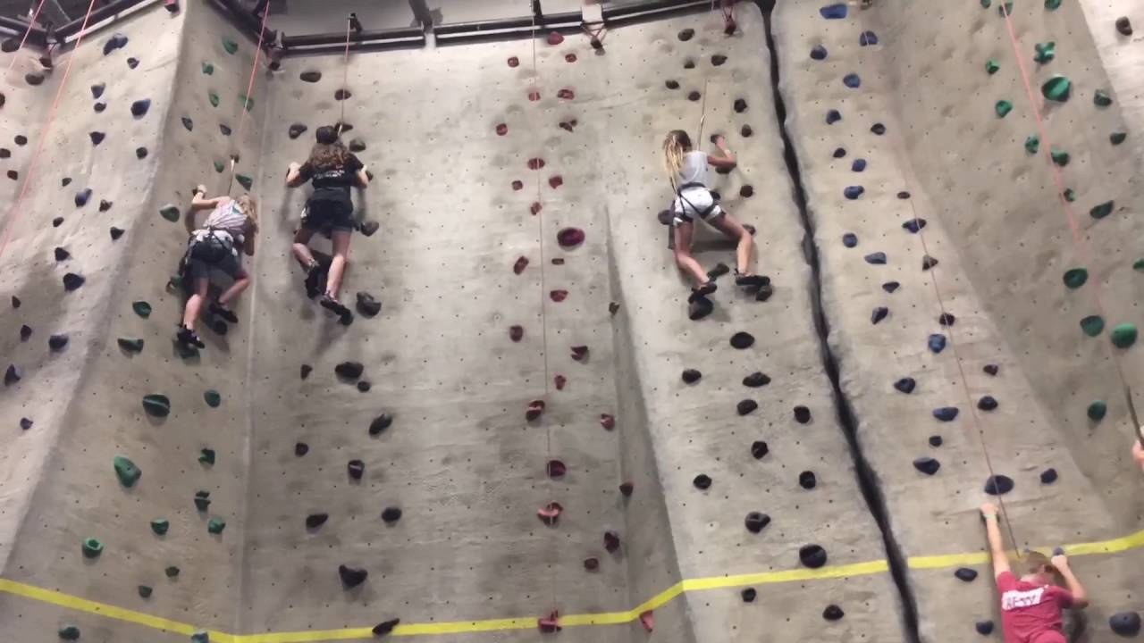 Rock climbing at Main Event Austin - YouTube