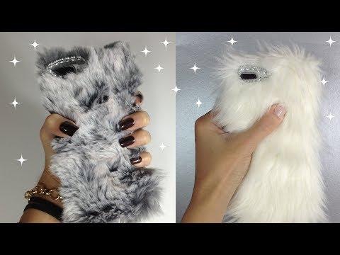Faux Fur Phone Cases DIY