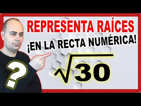 Aprende representar recta número irracional. Raíz 30.
