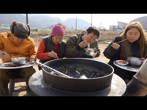 KBS2 공중파에 나왔다! [[해물칼국수(Noodle Soup With Seafood)]] 요리&먹방!! - Mukbang Eating Show