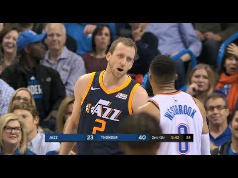 Joe Ingles Ready To Fight Russell Westbrook After Hard Grab