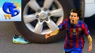 ⚽ Что будет если переехать бутсы  Адидас Месси внедорожником Crash Test of boots Adidas Messi by SUV