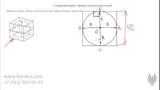 Задача B13: Сфера, вписанная в куб. Подготовка к ЕГЭ по математике