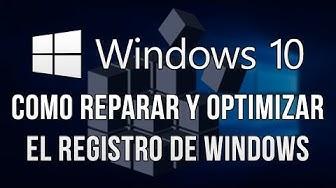 Como Reparar El Registro De Windows 10
