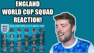 ENGLAND WORLD CUP SQUAD REACTION! NO JONJO SHELVEY!