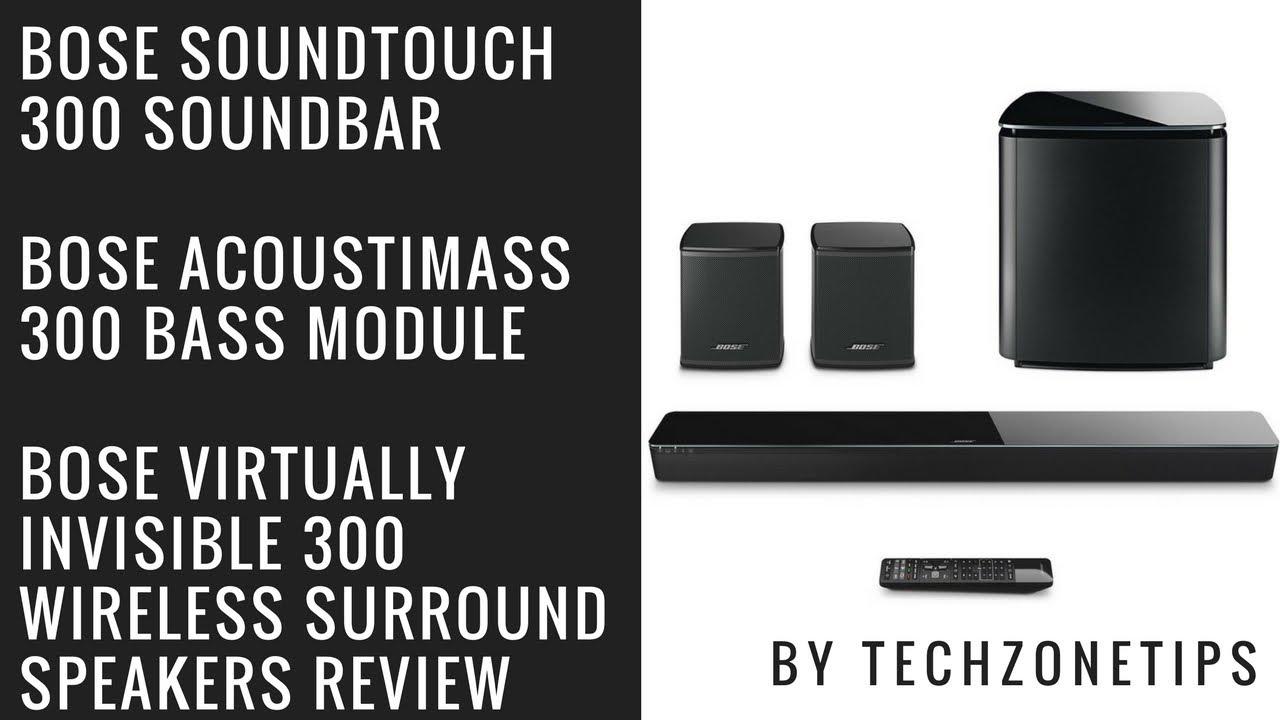 White Bose Acoustimass 300 Wireless Bass Module For SoundTouch 300 Soundbar