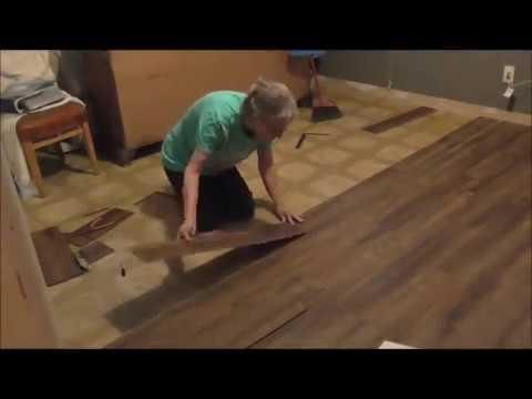 how to install a click lock vinyl floor
