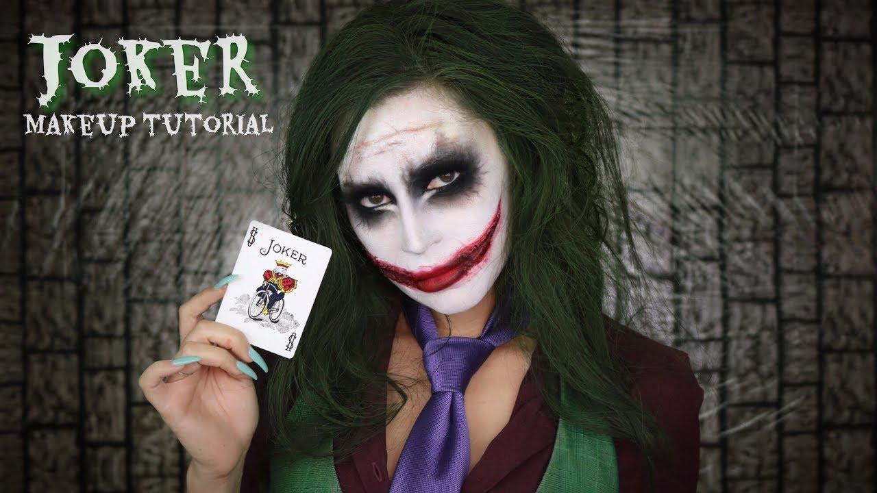 Joker Makeup Tutorial L Halloween Youtube - Joker-makeup-tutorial