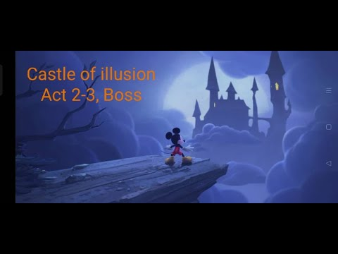 Castle of illusion gameplay 2-3, Boss Stage. We love this boss in this game. -(97)- |
