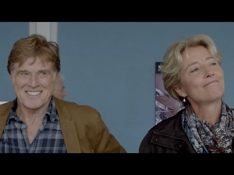 EXCLUSIVE: Watch Robert Redford and Emma Thompson Break Character in 'A Walk in the Woods' Gag Re…