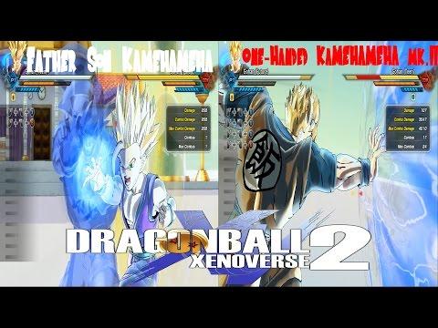 Father Son Kamehameha VS One Handed Kamehameha mk II Dragon Ball Xenoverse 2