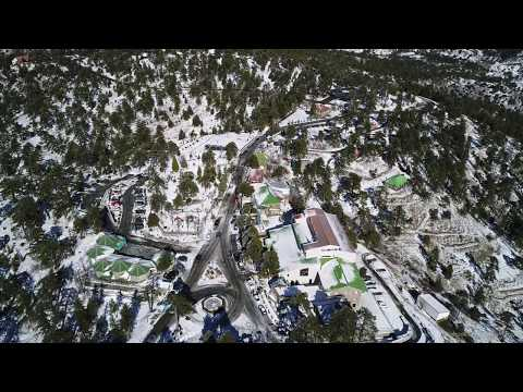 Troodos Mountain Christmas day 2017 BY Manos & Fedros Cyprus From Air.