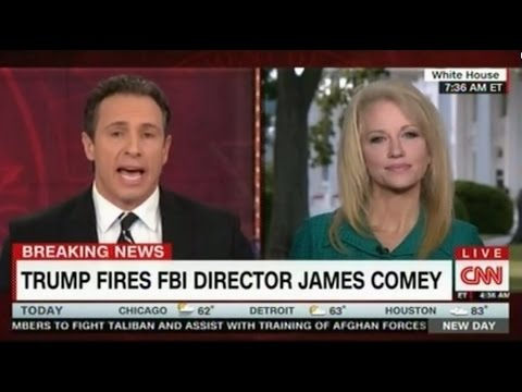 Kellyanne Conway argumentative interview with Chris Cuomo words like insult, naive, disrespect used