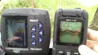 Эхолот для кораблика Lucky FF918-C и FF718LiW как показывают коряги