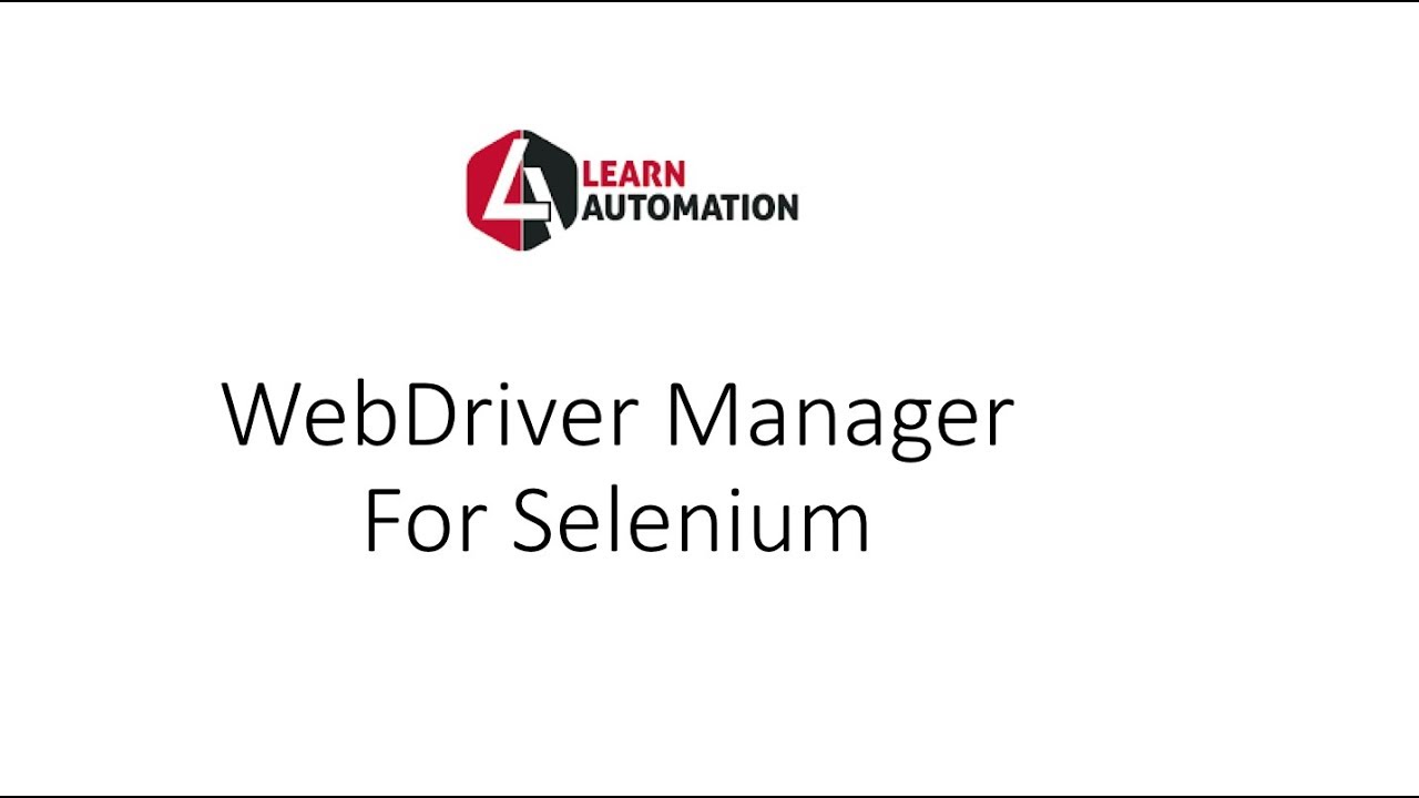 WebDriverManager Class for Selenium Webdriver- No Driver required