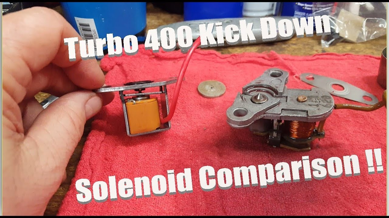 th400 turbo 400 transmission kickdown solenoid comparison old vs new [ 1280 x 720 Pixel ]
