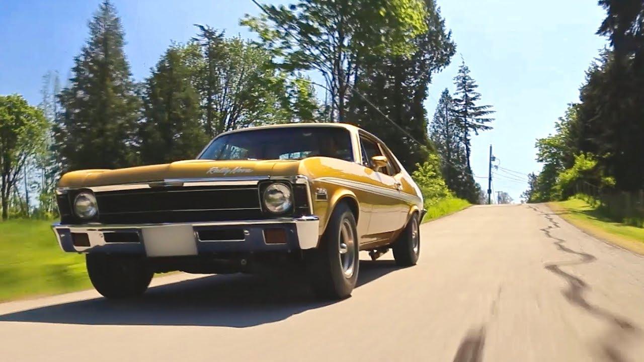 400HP 1972 Chevy Nova | Burnouts and Blacktop! - YouTube