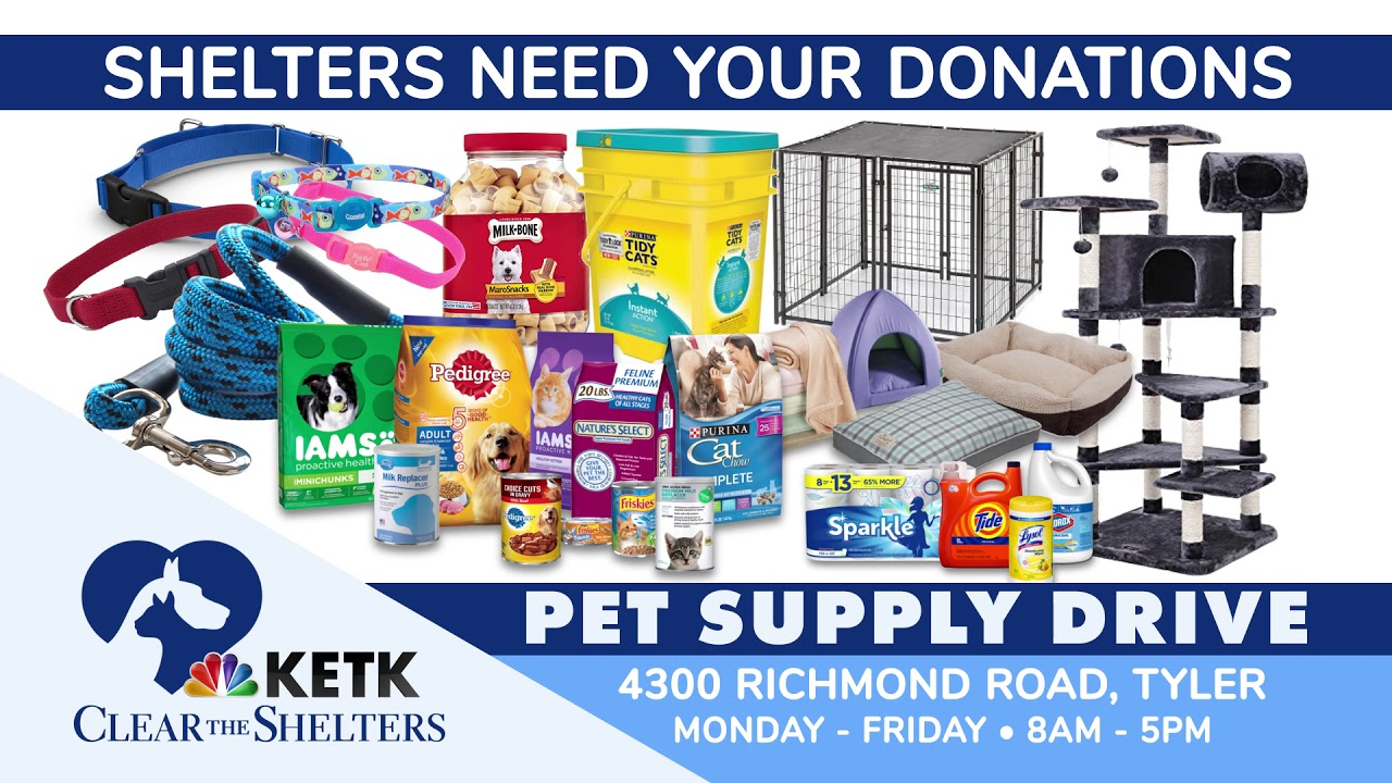 CLEAR THE SHELTERS: KETK collecting supplies for East Texas