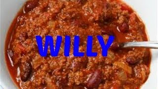 Chili Willy Fun Chilli Willy