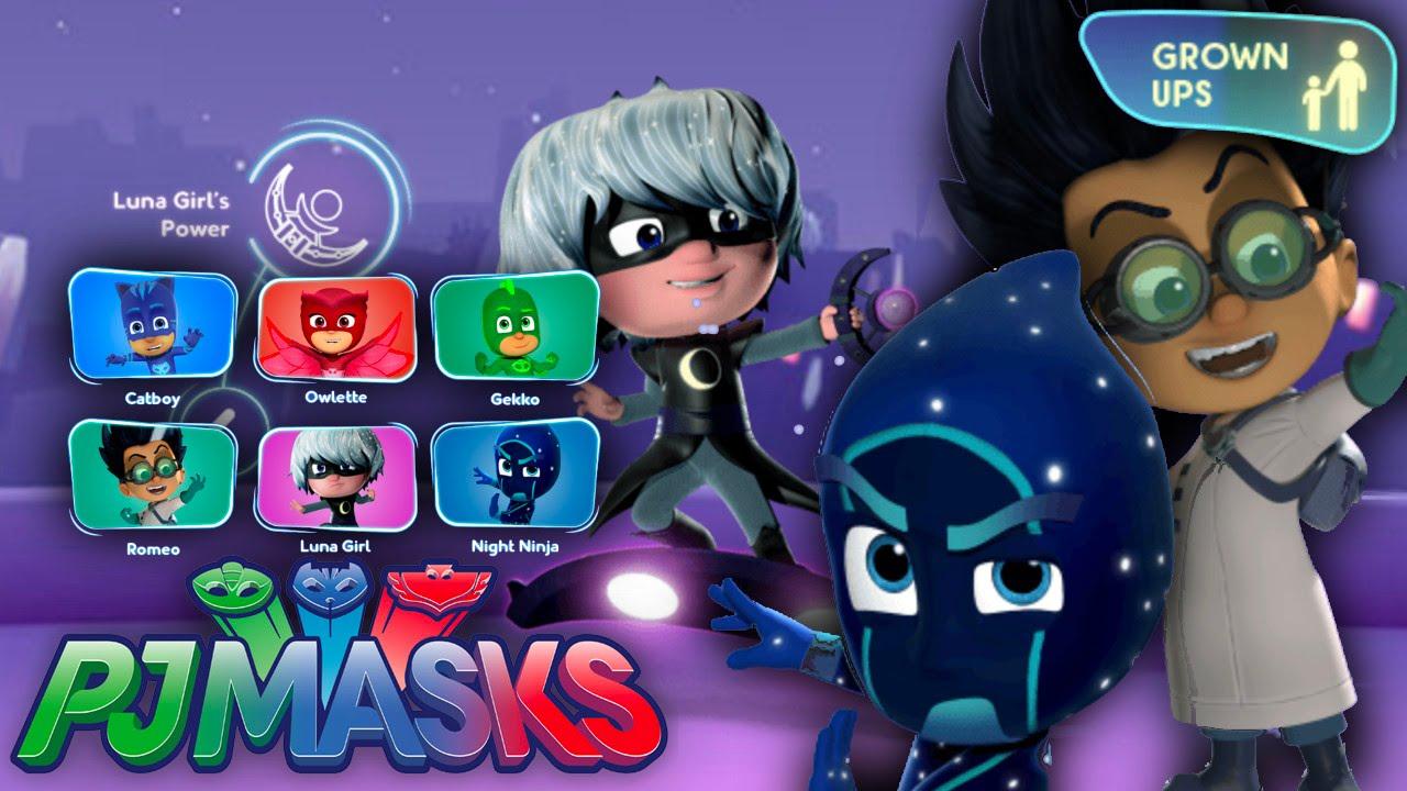 New Pj Masks Luna Girl Romeo Amp Night Ninja Website And