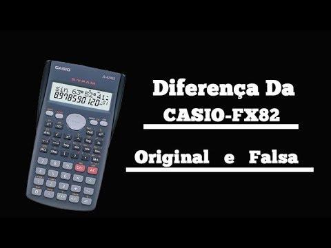 Como identificar uma calculadora Casio Fx-82 Falsa de Original
