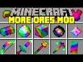 Minecraft MORE ORES MOD! l RAINBOW DIMENSION, ITEMS, ARMOR, ORE & MORE! l Modded Mini-Game