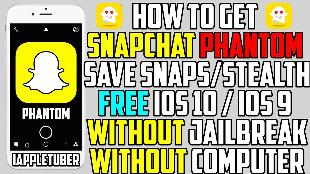 how to hack snapchat iphone how to get snapchat phantom hacks 2017 free no jailbreak 6090