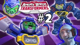 Lets Play Angry Birds Transformers Part 2: Soundwave Pig Unlocked! (Face Cam / Commentary Gameplay)