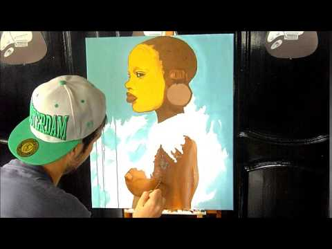 AFRICAN GIRL speed painting by EFART: Elkechai Fayçal ART